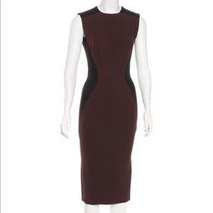 Victoria Beckham Silk and Wool Blend Midi Dress